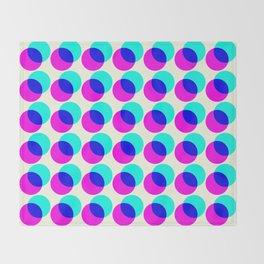 dots pop pattern Throw Blanket