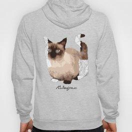 Geometric Animal - Munchkin Cat Hoody