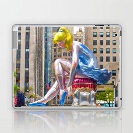 Seated Ballerina at Rockefeller Center 1 Laptop & iPad Skin
