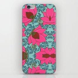 Pink Floral Pattern iPhone Skin