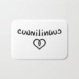 Ambigram Cunnilingus Bath Mat