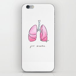 Just Breathe - Pulmonology iPhone Skin