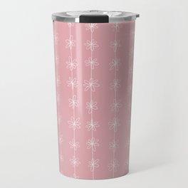 Pink Daisy Chain (Large Print) Travel Mug