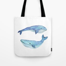 whale watercolor Tote Bag