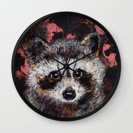 Baby Raccoon Wall Clock