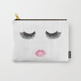 Watercolor lips and lashes print Carry-All Pouch