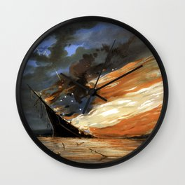 The Fate Of The Rebel Flag Wall Clock