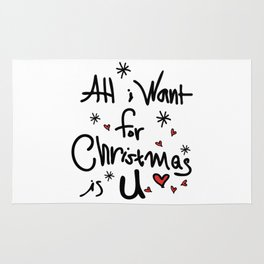 All i want for Christmas is U Rug