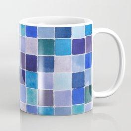 Blue Squares Coffee Mug