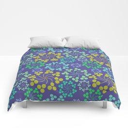 Fun Multicolored Whirligig Pattern Comforters