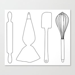 Baker Baking Tools - White Canvas Print
