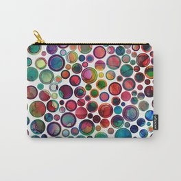 Dots on Painted Background 2 Carry-All Pouch