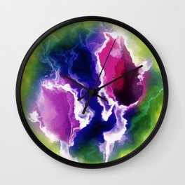colorful storm clouds Wall Clock