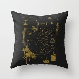 Magical Assistant Throw Pillow