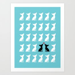 Dog Love 2 Art Print