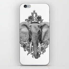 Elephant & Poppies  iPhone Skin