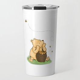 Classic Pooh with Honey - No background Travel Mug