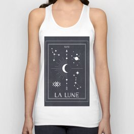 The Moon or La Lune Tarot Unisex Tank Top