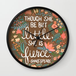 Little & Fierce on Kraft Wall Clock