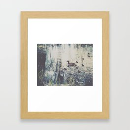 A Mother's Warmth Framed Art Print