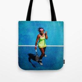 Serena Williams Tennis Celebrating Tote Bag