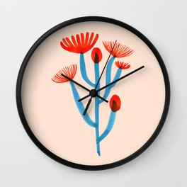 Blooming Cactus Wall Clock