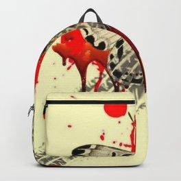 SURREAL BLEEDING VAMPIRE BUTTERFLY ROADKILL Backpack
