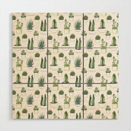 Watercolour Cacti & Succulents Wood Wall Art