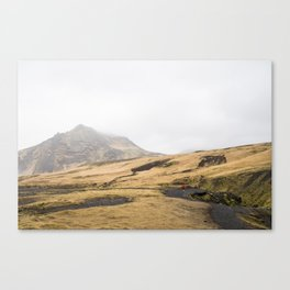 Trail runner in Icleand Canvas Print