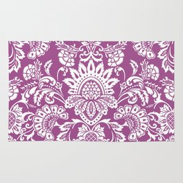 Damask in cyclamen Rug