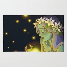 Dryad and Fireflies Rug