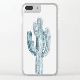 Cactus, Blue Cactus, Cacti Clear iPhone Case