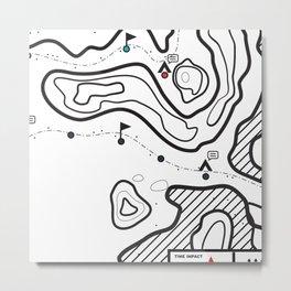 Map 1 Metal Print