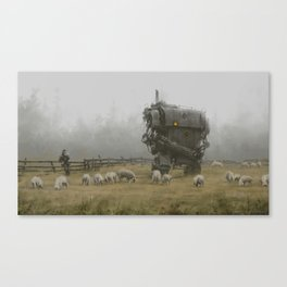 1920 - far from the frontline Canvas Print