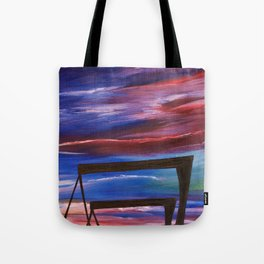HARLAND AND WOLFF CRANES - Abstract Sky Oil Painting Tote Bag