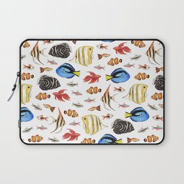Tropical Fish on White - pattern Laptop Sleeve