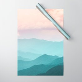Smoky Mountain National Park Sunset Layers II - Nature Photography Wrapping Paper
