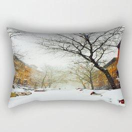 NYC @ Snow Time Rectangular Pillow