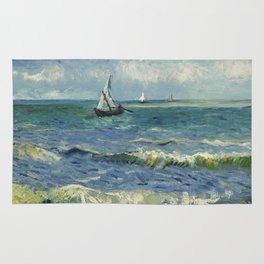 The Sea at Les Saintes-Maries-de-la-Mer by Vincent van Gogh Rug