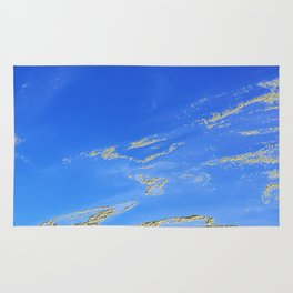 Mediterranean sky with mountains Rug