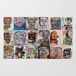 Basquiat Faces Montage Rug