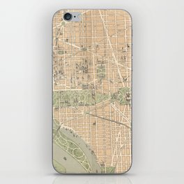 Vintage Map of Washington DC (1892) iPhone Skin
