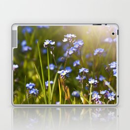 Forget me not flowers in sunlight Laptop & iPad Skin
