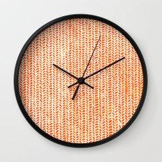 Stockinette Orange Wall Clock