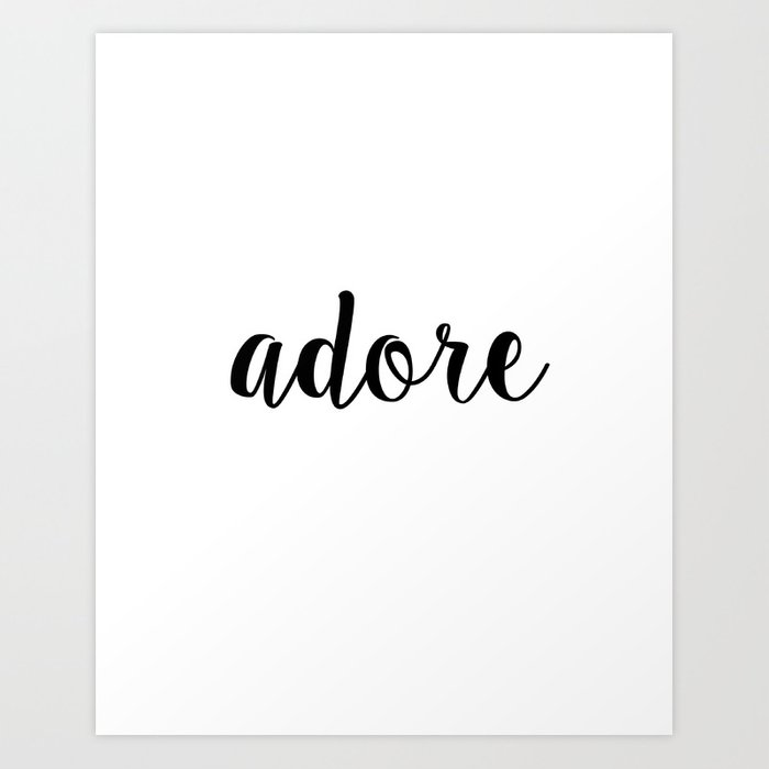 J'adore, Typography Printable Poster 8x10, Downloadable, Art Room Decor,  Digital File Art Print by nikolajovanovic
