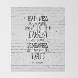 Albus Dumbledore Quote Inspirational Throw Blanket