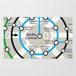Final Fantasy VII - Midgar Mass Transit System Map Rug