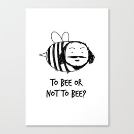 Moustache Bee Canvas Print