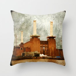 Battersea Power Station - London Throw Pillow