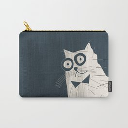 White Fashionable Cat Carry-All Pouch